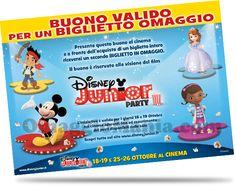 """Biglietto omaggio 2x1 """"Disney Junior Party"""" - http://www.omaggiomania.com/cinema/biglietto-omaggio-2x1-disney-junior-party/"""