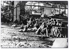 German infantrymen at the Red October factory