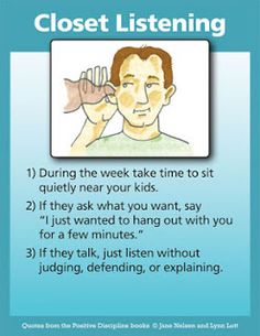 During the week take time to sit quietly near your kids.