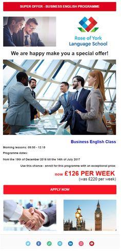 BUSINESS ENGLISH PROGRAMME: ⭐ Special offer ⭐ Rose of York Language School London  http://www.studybooking.com/school/view/rose-of-york-language-school-in-uk  #business #english #rose #of #york #london #united #kingdom #language #school