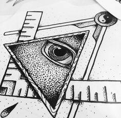 Illuminati Eye & Compass Artist: mezdrw