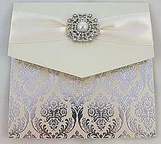 Luxury Vintage wedding invitation with pearl Vintage Wedding Invitations, Elegant Invitations, Wedding Stationary, Wedding Day Cards, Wedding Ideas, Luxury Wedding, Cardmaking, Stationery, Paper Crafts