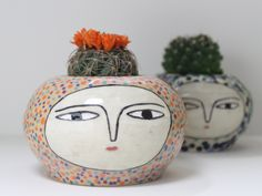 Two faces pots - Rob Jones & Kinska