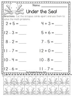 math worksheet : addition and subtraction worksheets counters included  : Kindergarten Addition And Subtraction Worksheets Free