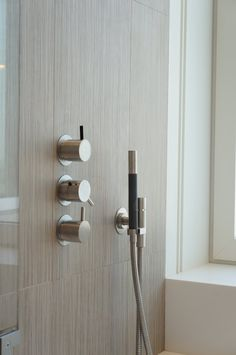 vertical layout Vola faucets