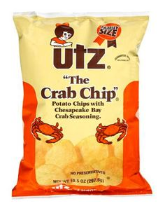 Utz Crab Chips!!! I was very excited to find these chips on the return trip home from our recent family excursion to DC. I love these and can't get them in Ohio.