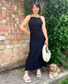 Sleeveless maxi dress and sandals | Nikki Nicola (@40notfrumpy) | For more style inspiration visit 40plusstyle.com