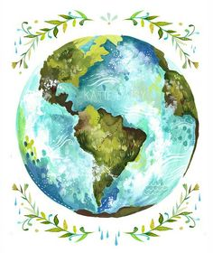 the world in blue and green