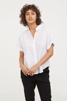 Koszula z krótkim rękawem - Biały - ONA | H&M PL