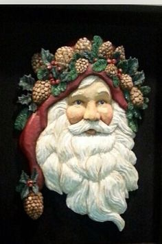 Father Christmas carved by Nancy Olson