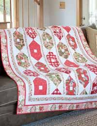 ROWS OF ROSES Sweet, feminine lap quilt kit Designed by WENDY SHEPPARD Fabric collection Indigo Rose by Verna Mosquera for FreeSpirit