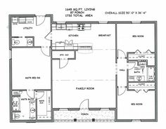 Complete House Plans 2000 sf 3 bed2 bathsThe splits 2 and