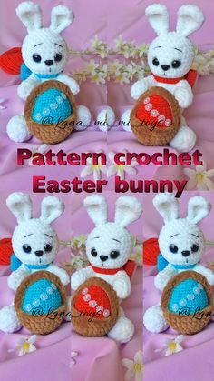 Heart bunny & Easter bunny 2 in 1 PDF crochet amigurumi pattern Easter Crochet, Crochet Bunny, Crochet Animal Patterns, Crochet Patterns Amigurumi, Handmade Toys, Etsy Handmade, Handmade Ideas, Sewing Basics, Crochet For Beginners