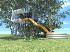 Modernes Design Baumhaus. a2haus Design Baumhäuser in moderner Architektur, ein…