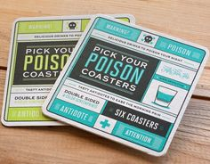 Fancy - Pick Your Poison Coasters