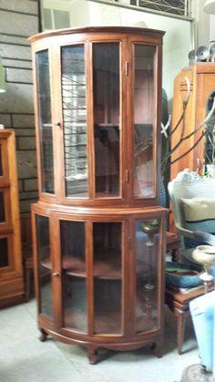 Molave Corner Curio Cabinet