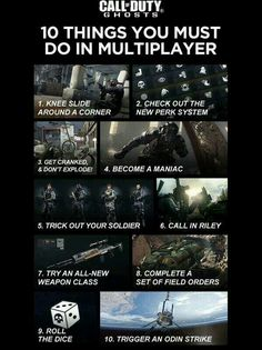 10 things u need to do in CoD Ghosts multiplayer.