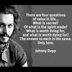"""Johnny Depp, that brilliant handsome actor that we all are fascinated by and love his acting, especially  in the famous film series """"Pirates of the Caribbean"""". Johnny is a producer and a musician too, but did you know that he is also a wise philosopher? Here is a collection of the wisest and most touching quotes by this lovely personality."""