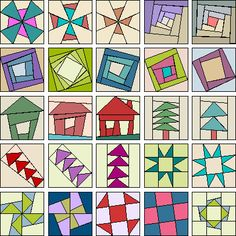 quilt blocks don't have to be perfect! Paper Piecing Patterns, Patchwork Patterns, Quilt Block Patterns, Quilt Blocks, Quilting Tutorials, Quilting Projects, Quilting Designs, Cute Quilts, Small Quilts