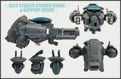 DX18 Stealth Striker drone and Support drone