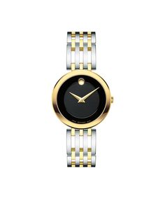 Movado Women's Swiss Esperanza Two-Tone Pvd Stainless Steel Bracelet Watch 0607053 - Black Stainless Steel Bracelet, Stainless Steel Case, Swiss Watch Brands, Black Museum, Metal Bracelets, Bangles, Bracelet Designs, Gold Watch, Bracelet Watch