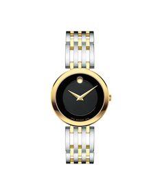 Movado | Esperanza Women's Two Toned Watch with Black Dial | Movado US