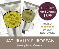 US: Naturally European Luxury Hand Cream - rated 5* by our customers.