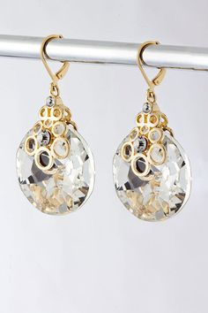 Gold Francesca Crystal Earrings | Emma Stine Jewelry Earrings-- SO difficult not to pin this whole site!