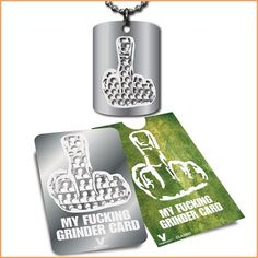 My Fucking Grinder Collection Card  Dogtag  V Syndicate ** Read more reviews of the product by visiting the link on the image.