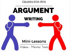 This is an outstanding version of an How to teach Argument writing. It uses the writer's workshop approach to Argument. I GUARANTEE that you will be very very impressed by this 99 slide powerpoint teaching argument writing unit. Writing Mini Lessons, Teaching Writing, Teaching Resources, Teaching Ideas, Teaching Materials, Academic Writing, Essay Writing, Argumentative Writing, Persuasive Writing