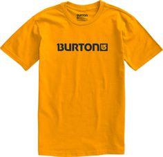 Burton Logo Horizontal Short Sleeve Mustard
