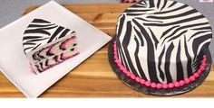 How to make a Pink Zebra Cake!!!!