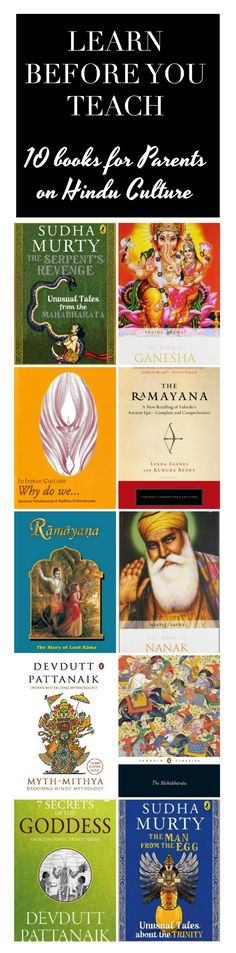 Learn before you Teach | 10 books for Parents on Hindu Culture | A collection of books on Hindu Culture and mythology that will aid in passing on faith and culture to our little ones.