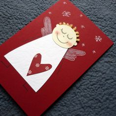přání ANDÍLEK Christmas Card Crafts, Christmas Templates, Christmas Angels, Christmas Projects, Christmas Decorations, Christmas Ornaments, Christmas Activities For Kids, Winter Crafts For Kids, Handmade Angels