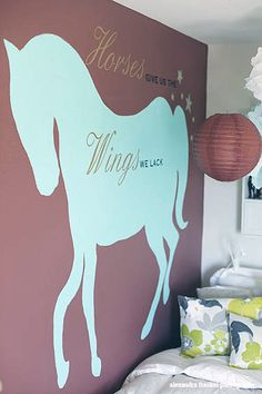 Horse Wall Decal - Horses Give Us... - Many Color Choices. $23.00, via Etsy.