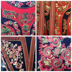 Gretchen compiled this pic in short order. Folk Embroidery, Cross Stitch Embroidery, Norwegian Rosemaling, Folk Clothing, Folk Dance, Norway, Folk Art, Needlework, Weaving