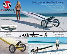 Standup paddle board carrier - Paddle Surf Board Wheeled trolly by SUP Wheels #SUPWheels