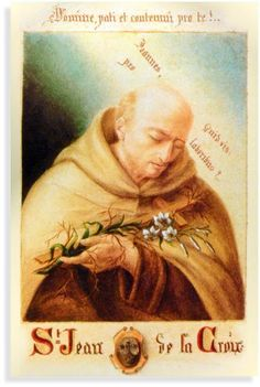 St. John of the Cross painted by St. Therese's sister, Mother Agnes (Pauline)