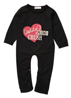 2193ab9402c2 Daddy Mini Crush Baby Romper Kids Boutique, Boutique Stores, Baby Clothes  Shops, Girl