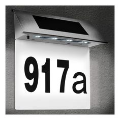 Solar House Numbers, Number Labels, Small Letters, Led Strip, Flip Clock, Lettering, 3, Products, Ebay