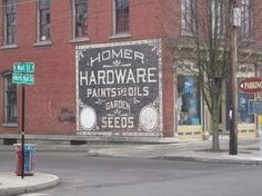 Classic Advertising at its best very popular in the 1900s all the way till the 80s now ghost signs.