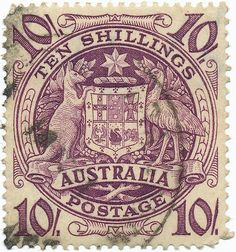 1949 Australian Stamp - Arms of the Commonwealth of Australia by alexjacque on Flickr.