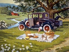 From Seasons Past JohnSloaneArt.com - John Sloane - Gallery - Antique Cars and Trucks