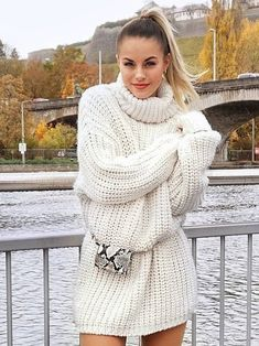 White Sweater Dress, Sweater Outfits, Winter Fits, Cowgirl Outfits, Cute Sweaters, Cowl Neck, Turtle Neck, Wool, Sexy