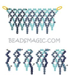 Free pattern for beaded necklace Shade of Grey | Beads Magic