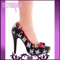Ellie Shoes | 400-Ahoy Ellie Shoes Decolletè Scarpa Pelle Teschi Bianchi Dipinti ...