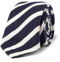 Alexander OlchStriped Knitted Cotton Tie