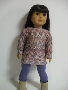 American Girl Doll Clothes -- Purple and Lace