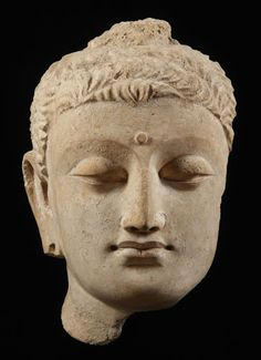 Spread of Buddhism - Greco-Buddhist Art Form Sculpture Head, Pottery Sculpture, Sculptures, Southeast Asian Arts, Buddha Painting, Greek Culture, Religious Icons, Hindu Art, Buddhist Art