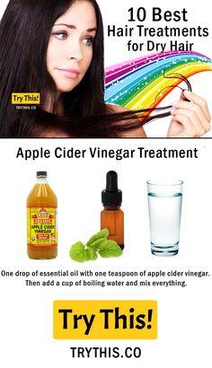 Apple Cider Vinegar Treatment For Dry Hair